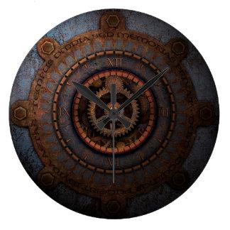 Relógio Grande Engrenagens do metal da horas de Steampunk