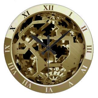 Relógio Grande Engrenagens elegantes e atrativas legal do pulso