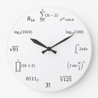 Relógio Grande Equações e notações da matemática