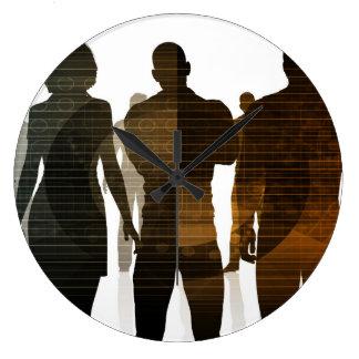 Relógio Grande Equipe do negócio dos profissionais que estão para