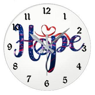 Relógio Grande Esperança para o pulso de disparo de parede da paz