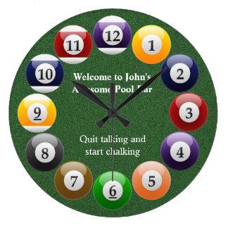 Relógio Grande Esportes coloridos brilhantes do Snooker da