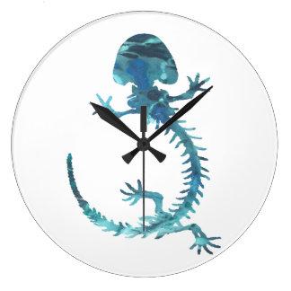 Relógio Grande Esqueleto de Hellbender