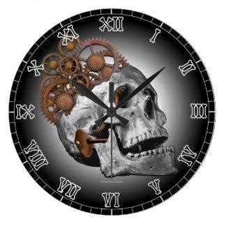 Relógio Grande Esqueleto de Steampunk das rodas denteadas do