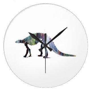 Relógio Grande Esqueleto do dinossauro (Scelidosaurus)