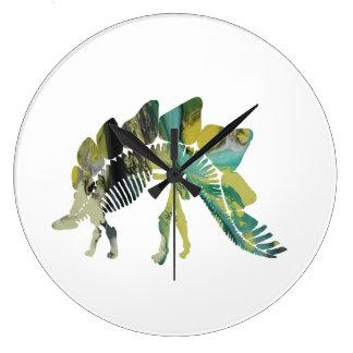 Relógio Grande Esqueleto do Stegosaurus