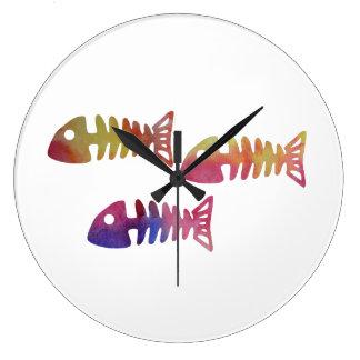 Relógio Grande Esqueleto dos peixes