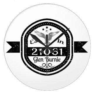 Relógio Grande Estabelecido 21061 no vale Burnie