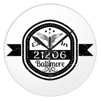 Relógio Grande Estabelecido em 21206 Baltimore