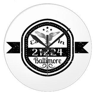 Relógio Grande Estabelecido em 21224 Baltimore