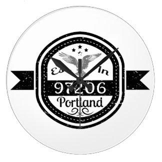 Relógio Grande Estabelecido em 97206 Portland