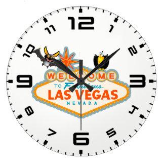 Relógio Grande Estilo feliz do Dia das Bruxas Las Vegas