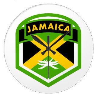 Relógio Grande Estilo jamaicano da crista da bandeira