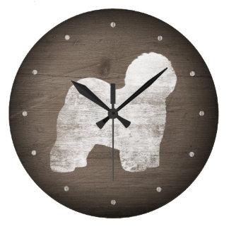 Relógio Grande Estilo rústico da silhueta inglesa velha do