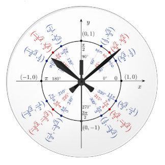 Relógio Grande Estudante engraçado do nerd do geek da matemática