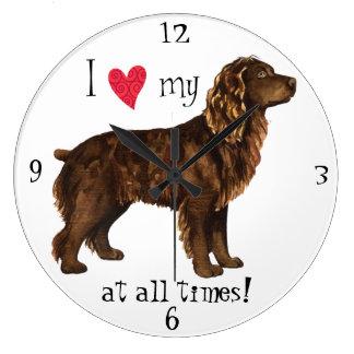 Relógio Grande Eu amo meu Spaniel de Boykin