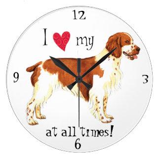 Relógio Grande Eu amo meu Spaniel de galês Springer