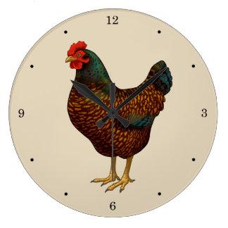 Relógio Grande Eu amo minhas galinhas de Barnevelder