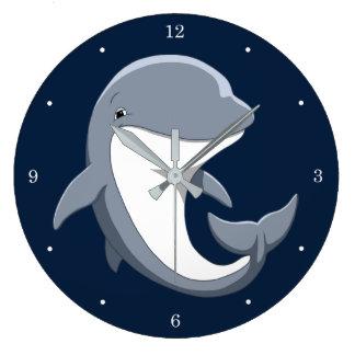 Relógio Grande Eu amo o Bottlenose bonito dos golfinhos