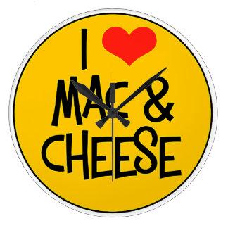 Relógio Grande Eu amo o pulso de disparo de parede do queijo do