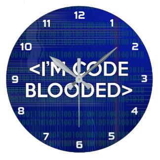 Relógio Grande Eu sou o CÓDIGO BLOODED