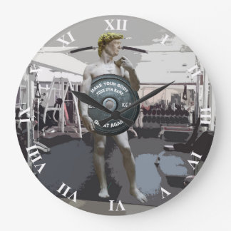 Relógio Grande Exercício engraçado David do Gym como o corpo do