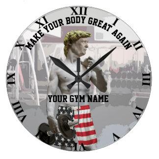 Relógio Grande Exercício engraçado Donald Trump do Gym com