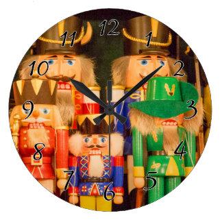 Relógio Grande Exército de Nutcrackers do Natal