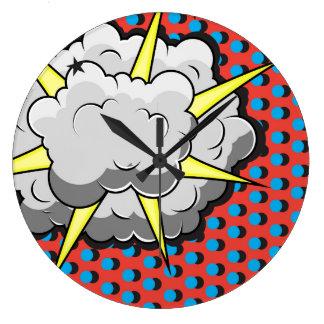 Relógio Grande Explosão cómica do estilo do pop art