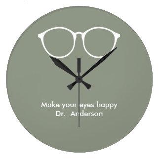 Relógio Grande Eyeglasses do óptico do optometrista do