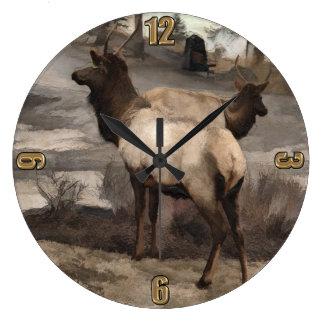 Relógio Grande Fanfarrões novos dos alces   - Banff Alberta