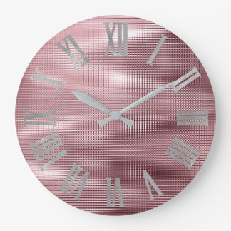 Relógio Grande Feijão de prata Numers romano metálico mínimo de