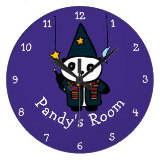 Relógio Grande Feiticeiro personalizado Pandy a panda