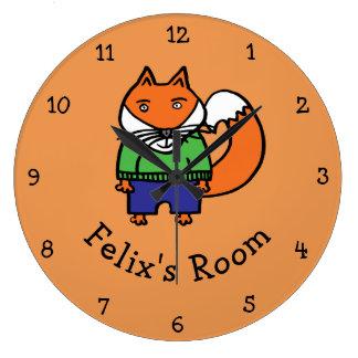 Relógio Grande Felix personalizado o Fox