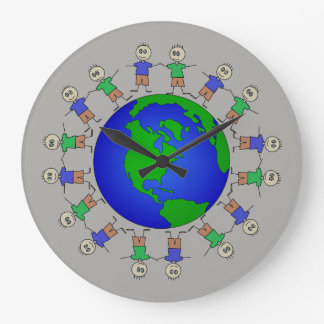 Relógio Grande Figuras bonitos da vara da terra do planeta em