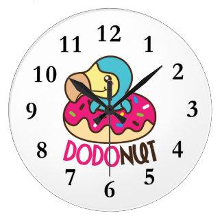 Relógio Grande Filhós do pássaro do Dodo de Dodonut