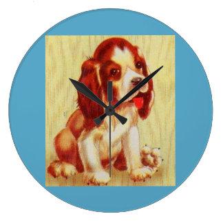 Relógio Grande filhote de cachorro pequeno bonito do lebreiro