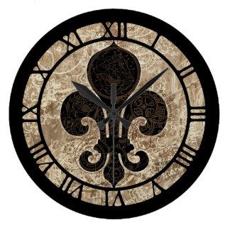 Relógio Grande Flor de lis do maquinismo de relojoaria