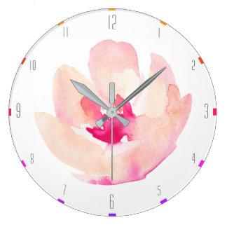 Relógio Grande Flor original da aguarela - costume