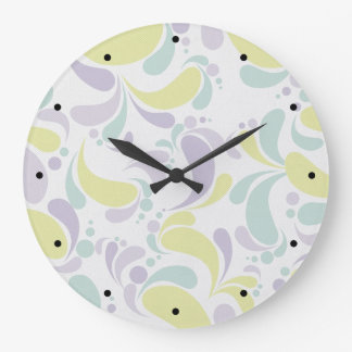 Relógio Grande Floral empalideça