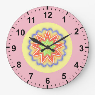 Relógio Grande ~ florido do Fractal das estrelas do ~