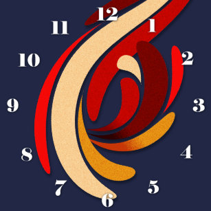 5c822aeff0b Relógio Grande Flourish clássico moderno quente