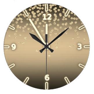 Relógio Grande Folha brilhante adorável Confetty ou diamante