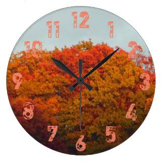 Relógio Grande Folhagem de outono