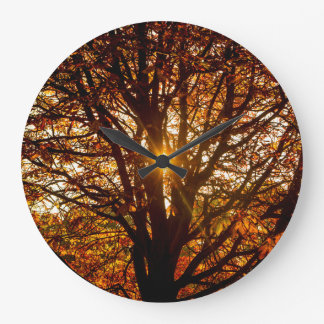 Relógio Grande Folhas de outono