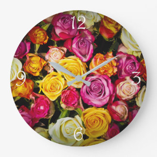 Relógio Grande foto colorida à moda elegante bonita dos rosas