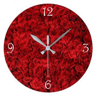 Relógio Grande fotografia à moda bonita elegante das rosas