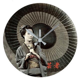 Relógio Grande Fotografia do vintage:  Menina de gueixa
