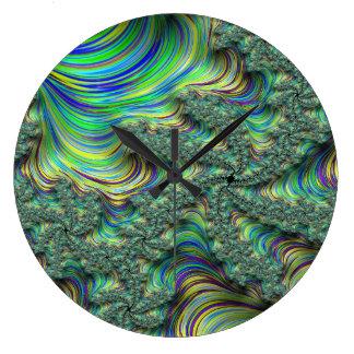 Relógio Grande Fractal colorido