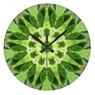 Relógio Grande Fractal da agitação do Prickle do cacto